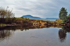 Meander River with Quamby Bluff in back ground.