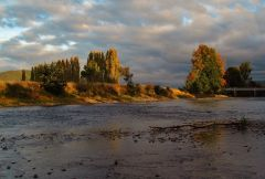 Weather moving in, Mersey River at Merseylea.